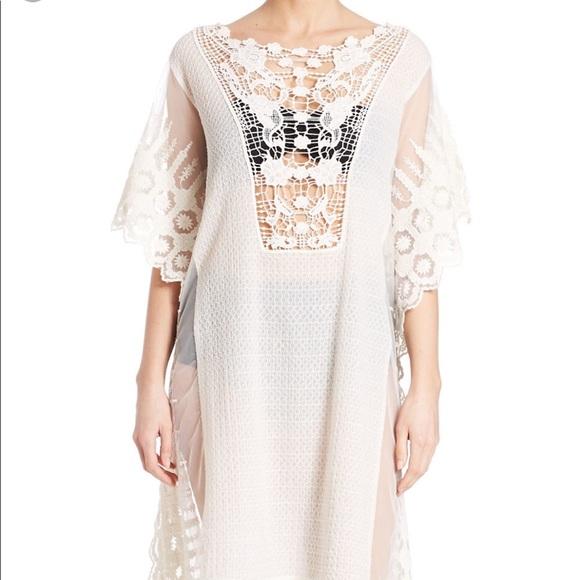 54d659763d Amita Naithani Swim   White Lace Crochet Coverup   Poshmark